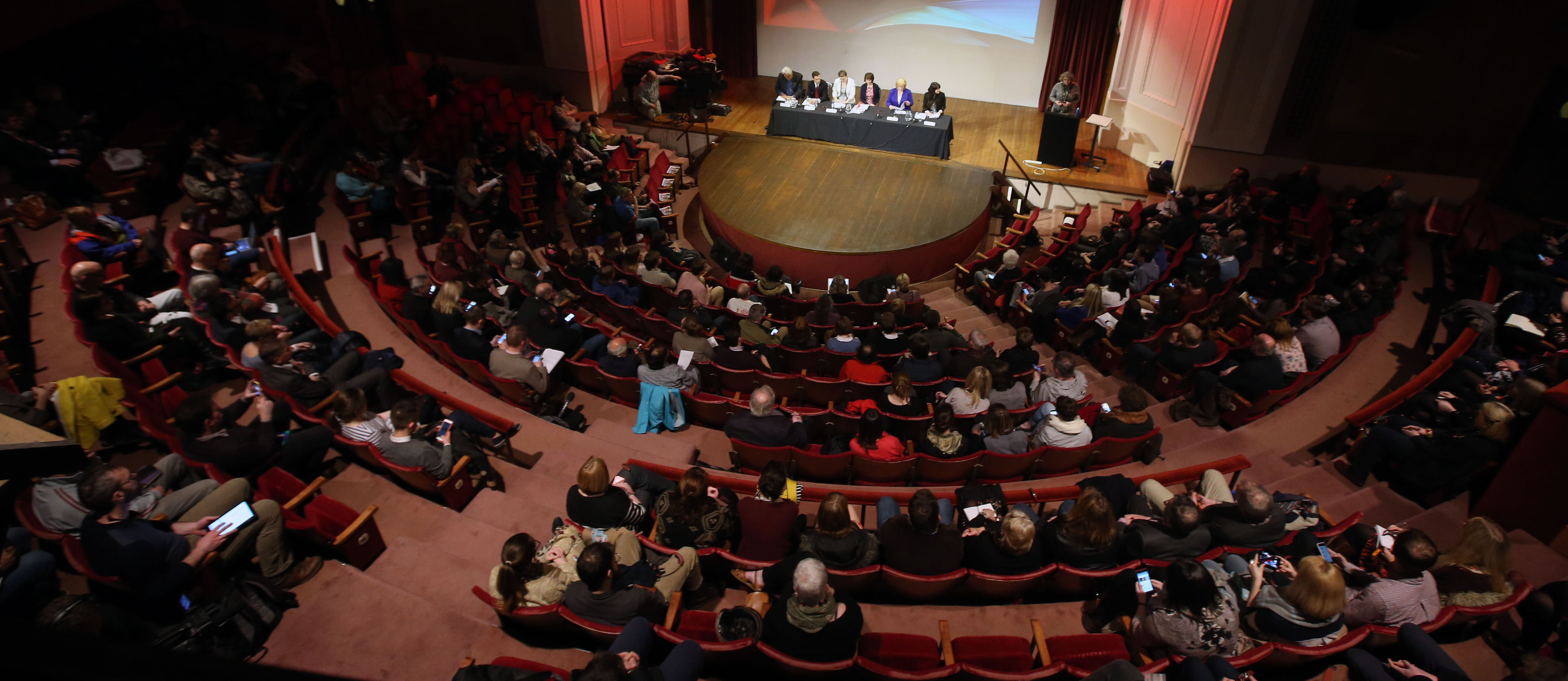 Audience and panel in Reardon Smith theatre