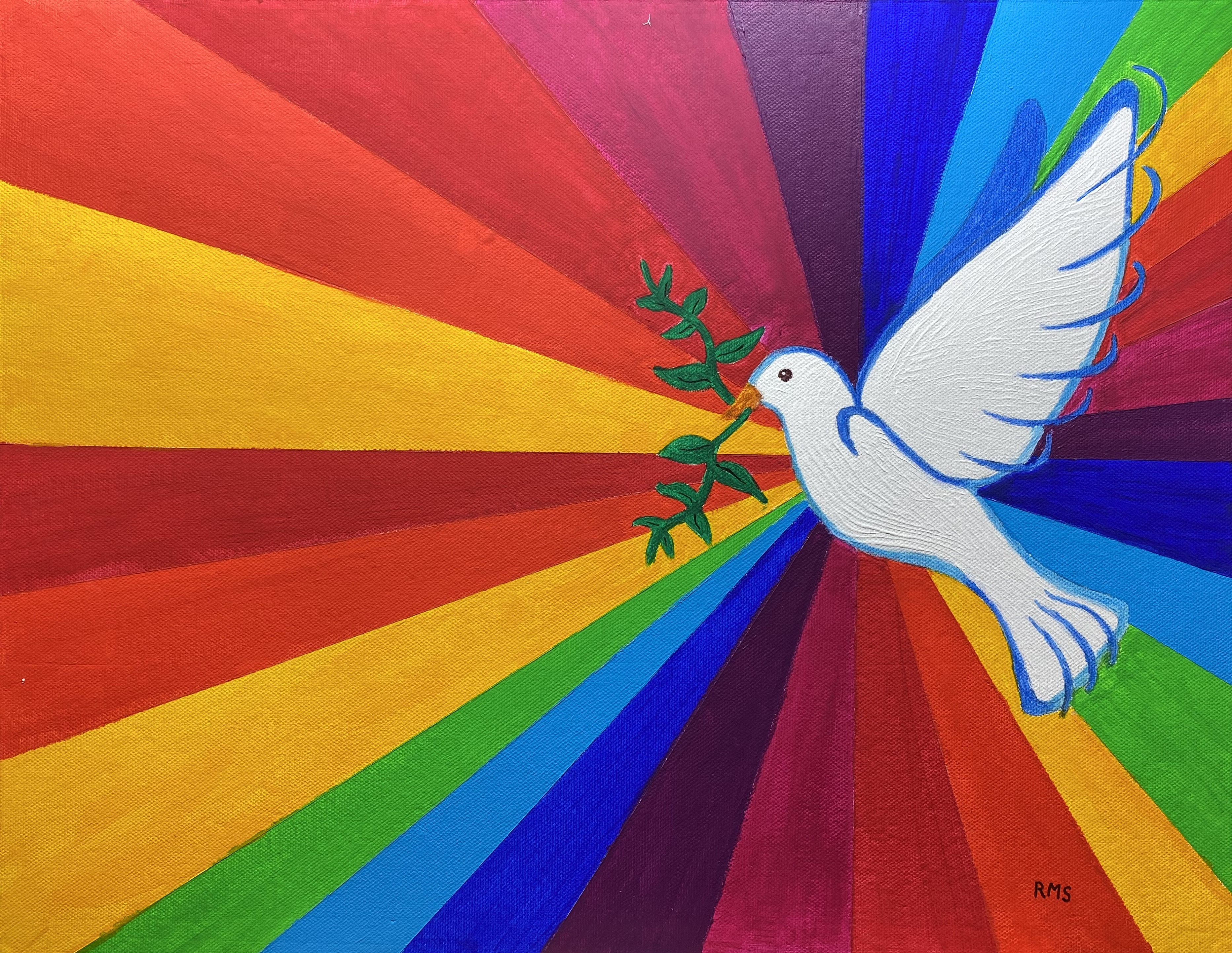 Peace and Harmony dove by Rosaleen Moriarty-Simmonds