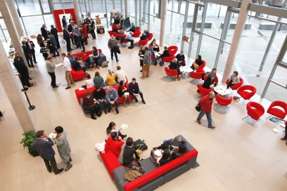 Attendees gathered at Cardiff: Creative Capital event at Cardiff University