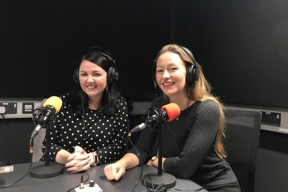 Kayleigh Mcleod in the studio with Katherine Sheers